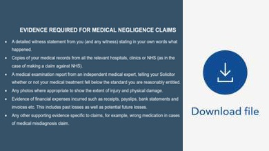 medical negligence claims process